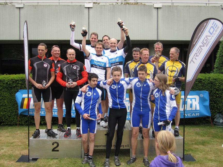 Siegerpodest Manschaftszeitfahren Juni 2012